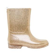 Gold Glitter Gumboot