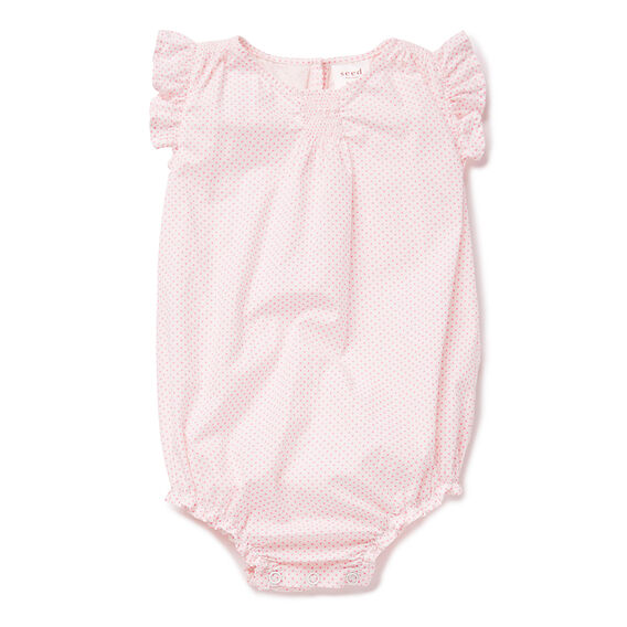 Woven Onesie With Frills