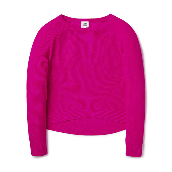 Crop Slub Sweater