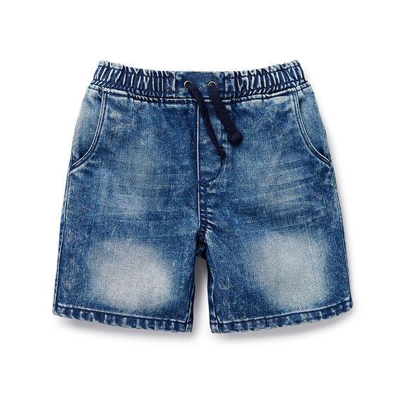 Pull On Denim Short