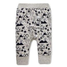 Yardage Print Harem Pants