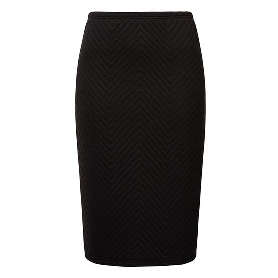 Quilted Ponte Skirt