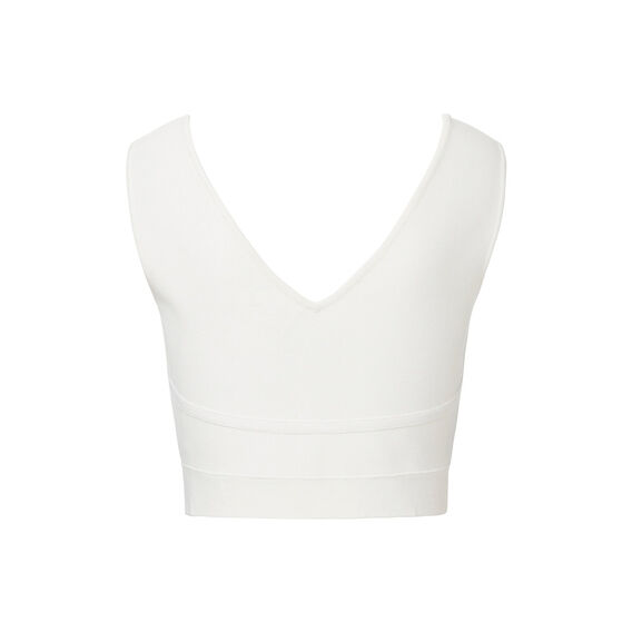 Collection Cropped Crepe Knit Top