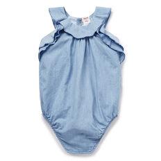 Chambray Frill Bodysuit