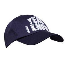 Flocked Slogan Cap