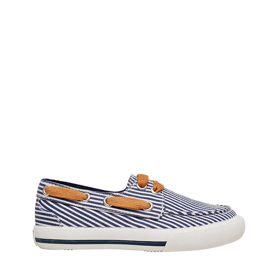 Stripe Boat Shoe