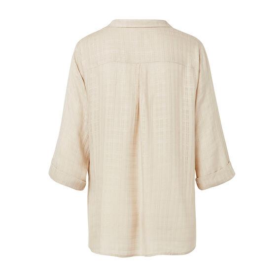 Textured Wrap Shirt