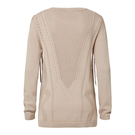 Collection Crepe Fringe Front Sweater