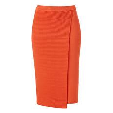 Crepe Wrap Rib Skirt