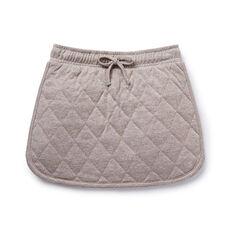 Quilted Lurex Skirt