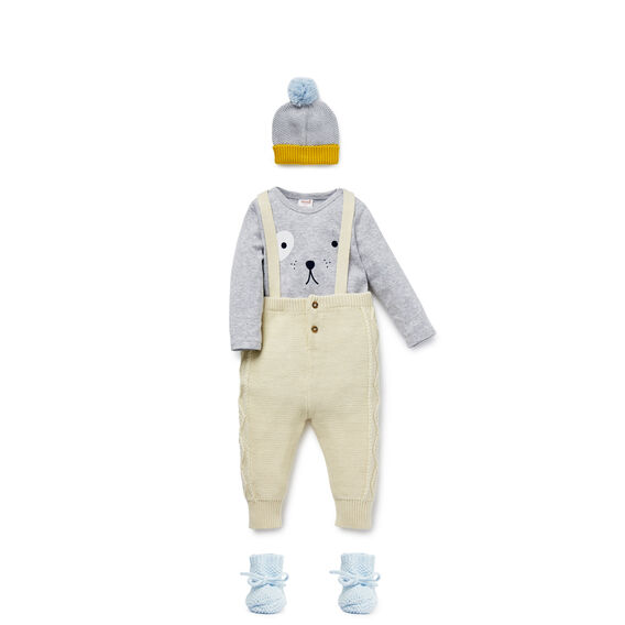 Cabled Overalls