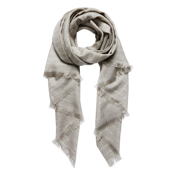 Metallic Stripe Scarf