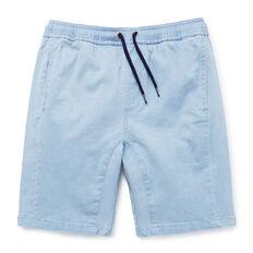 Panelled Chambray Short