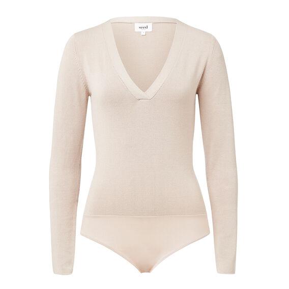 Deep V Knit Bodysuit