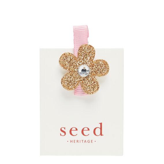 Glitter Flower Duck Clip