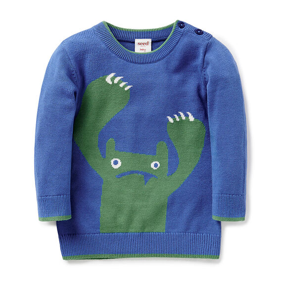 Monster Intarsia Sweater