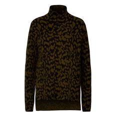 Cheetah Roll Neck Sweater