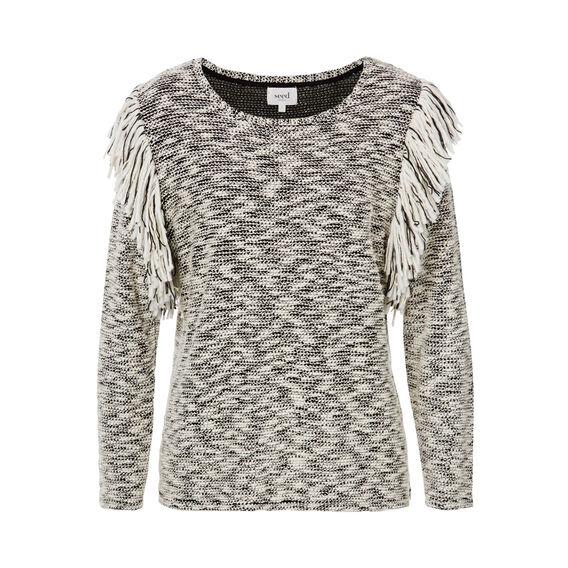 Fringe Sleeve Sweater