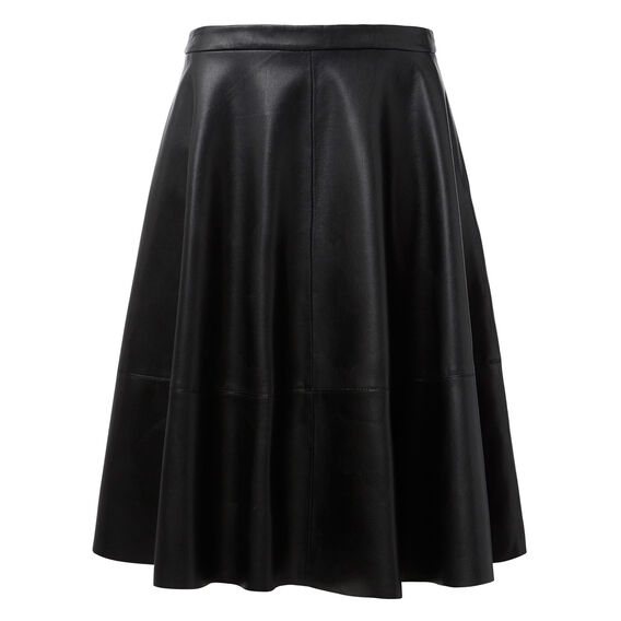 Faux Leather Circle Skirt