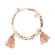 Bead and Tassel Wrap Bracelet