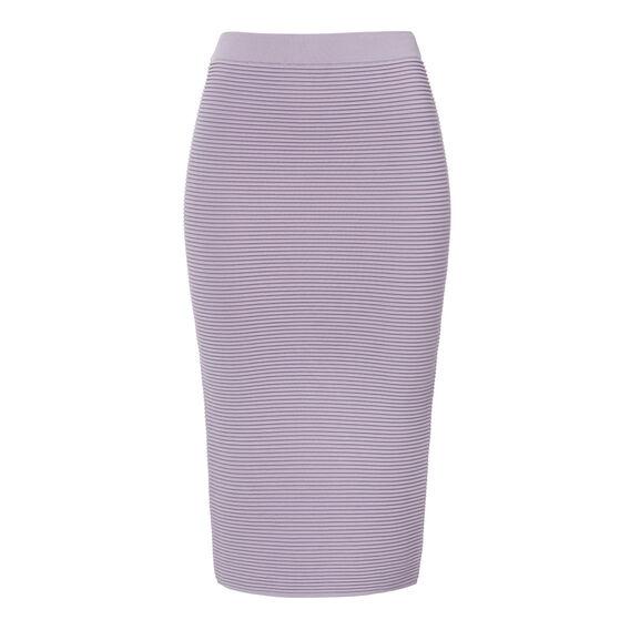 Rib Tube Crepe Skirt