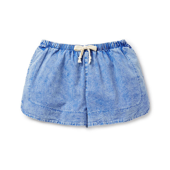 Acid Wash Runner Short