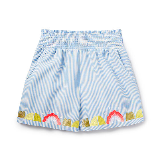 Embroidered Soft Short
