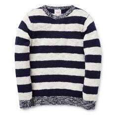 Block Stripe Slub Knit