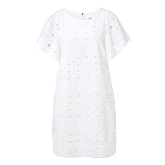 Broderie Frill Sleeve Dress