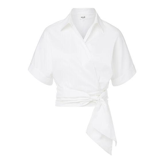 Wrap Crop Shirt