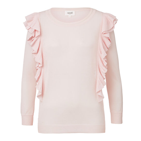 Collection Crepe Frill Trim Sweater