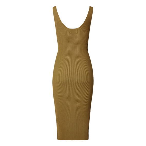 Collection Crepe Zipper Body Dress