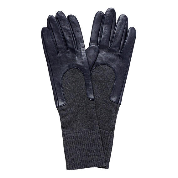 Leather Knit Gloves