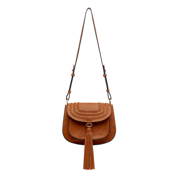 Peggy Braided Saddle Bag