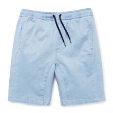 Panelled Chambray Short