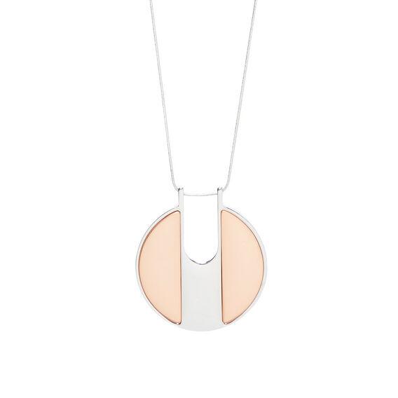 Disc Pendant Necklace