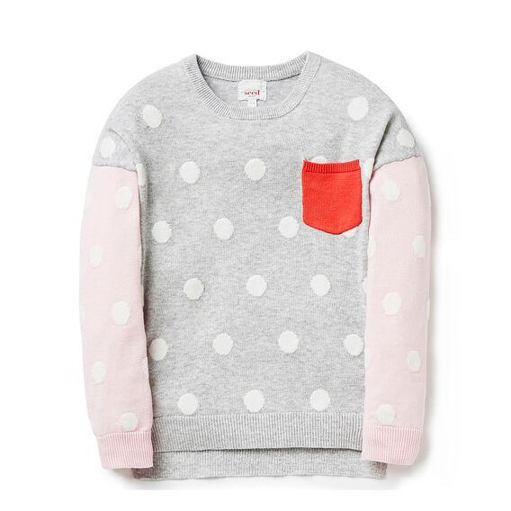 Block Spot Sweater