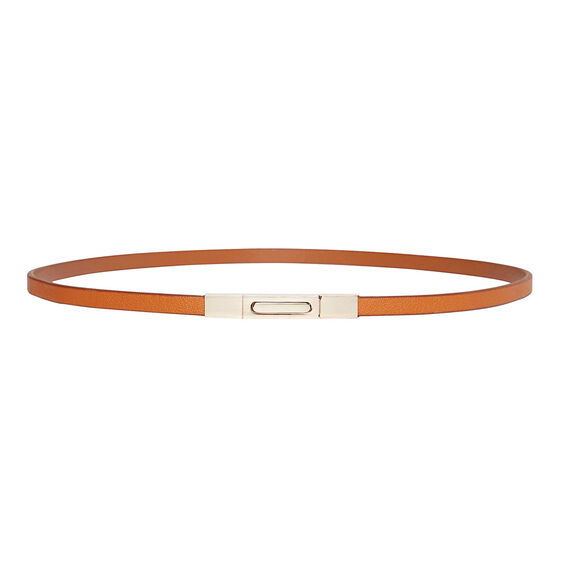 Push Lock Skinny Belt