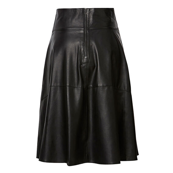 Collection Asymmetrical Leather Skirt