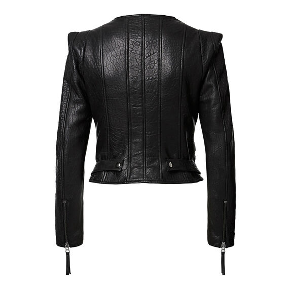 Collection Zipper Leather Jacket