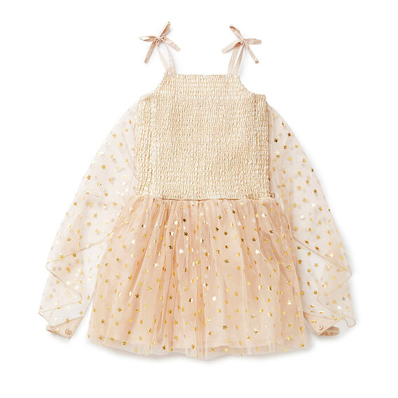 Shirred Lame Dress