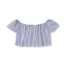Stripe Off-Shoulder Top
