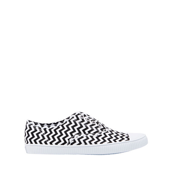 Zig Zag Eyelet Sneakers