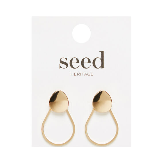 Teardrop Front Back Earring