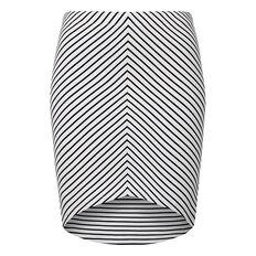 Stripe Scoop Skirt
