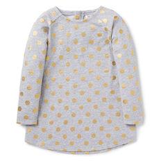 Spot Dip Hem Dress
