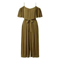 Tiered Culotte Jumpsuit