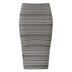 Knitted Stripe Skirt