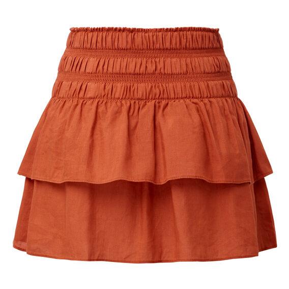 Linen Blend Rah Rah Skirt
