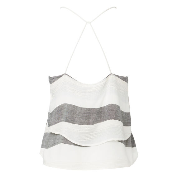 Strappy Cropped Tank Top